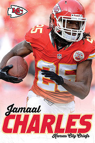 "Jamaal Charles ""Superstar"" Kansas City Chiefs NFL Action Poster - Costacos 2013"