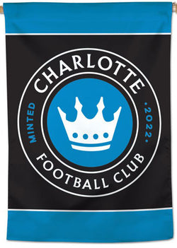 Charlotte FC Official MLS Soccer Team Logo Wall BANNER - Wincraft Inc.