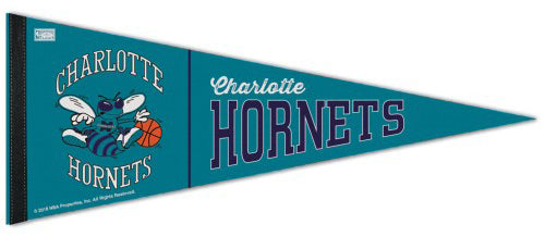 Charlotte Hornets NBA Retro 1989-2002 Style Premium Felt Collector's Pennant - Wincraft Inc.
