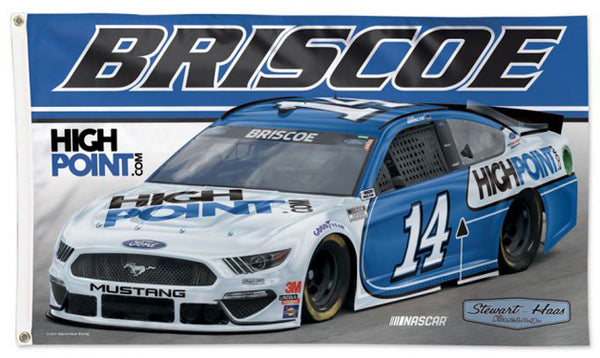 Chase Briscoe NASCAR #14 High Point Ford Mustang Huge 3' x 5' DELUXE Banner FLAG - Wincraft 2021