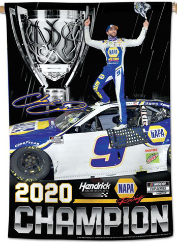 Chase Elliott 2020 NASCAR Cup Champion Commemorative 28x40 Vertical Banner - Wincraft Inc.
