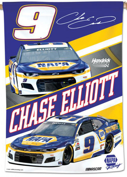 Chase Elliott Official NASCAR NAPA #9 Race Action Wall BANNER - Wincraft 2021