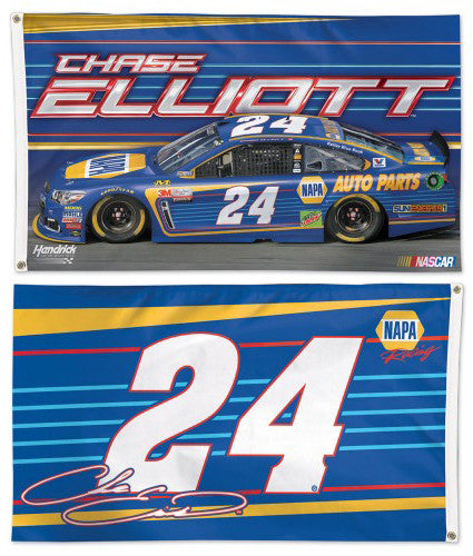 Chase Elliott NASCAR #24 NAPA Racing Chevrolet Official HUGE 3'x5' Deluxe Flag - Wincraft 2017