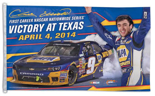 "Chase Elliott ""Victory at Texas 2014"" Official HUGE 3'x5' Commemorative Flag - Wincraft Inc."