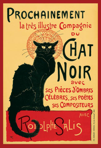 "Chat Noir (Paris 1896) Bohemian Cafe Vintage Poster Reprint (24""x36"") - Pyramid Int'l."