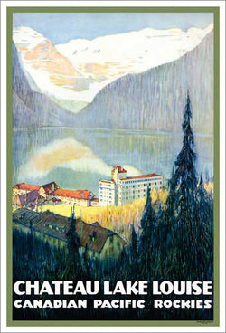 Chateau Lake Louise Canadian Pacific Railway (c.1938) Travel Poster Reprint - Eurographics