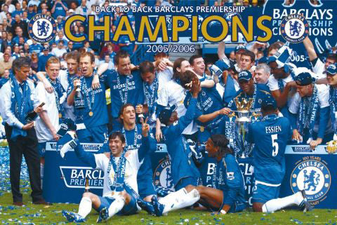 Chelsea FC EPL Champions 2006 Celebration Poster - GB Posters