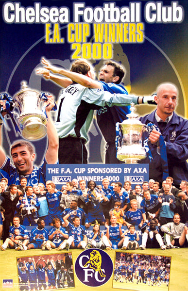 Chelsea FC F.A. Cup Winners 2000 Official Commemorative Poster - Starline Inc.