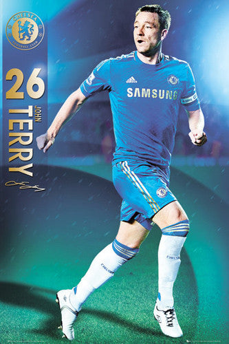 "John Terry ""Signature"" Chelsea FC Action Poster - GB Eye 2012/13"