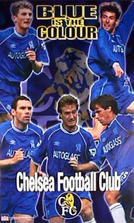 "Chelsea F.C. ""Blue is the Colour"" 5-Star Soccer Action Poster - Starline Inc."