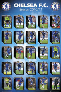 "Chelsea FC ""Action Squad"" (2010/11) Poster - GB Eye Inc."