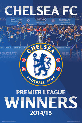 Chelsea FC Premier League Winners 2014/15 Official Commemorative Poster - GB Eye (UK)