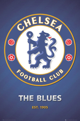 "Chelsea FC ""The Blues - est. 1905"" Club Crest Team Logo Poster - GB Eye (UK)"
