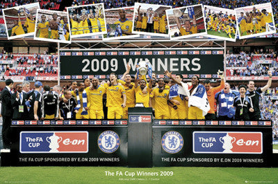 Chelsea FC 2009 FA Cup Winners Commemorative Poster
