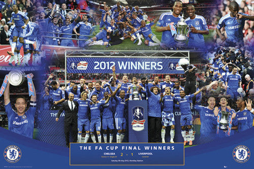 Chelsea FC FA Cup Final Winners 2012 Commemorative Poster