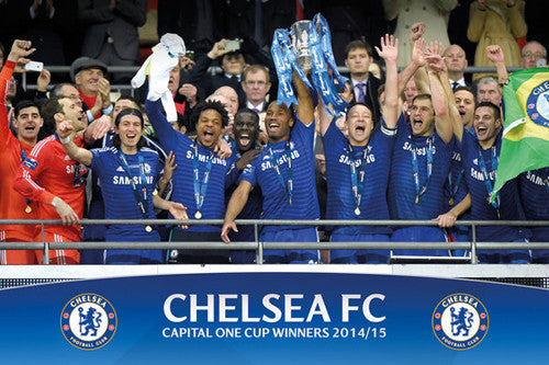 Chelsea FC 2015 Capital One Cup Championship Celebration Commemorative POSTER - GB Eye (UK)