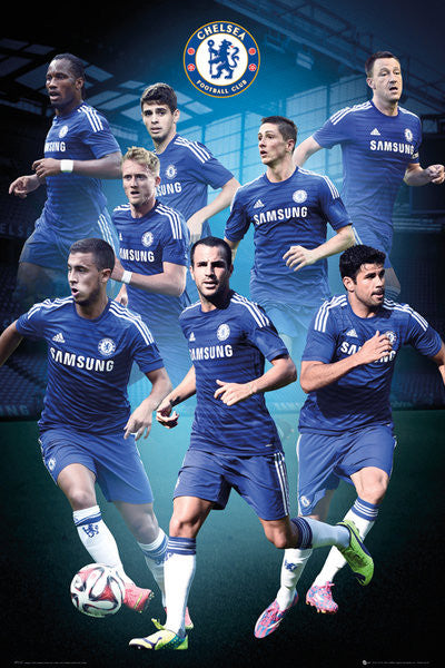 "Chelsea FC ""Super Eight"" (2014/15) Official EPL Soccer Poster - GB Eye (UK)"