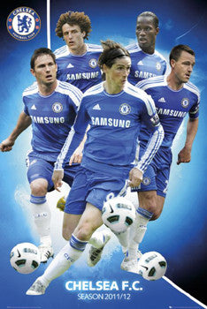 "Chelsea FC ""Fab Five"" (2011/12) EPL Superstars Soccer Poster - GB Eye Inc."