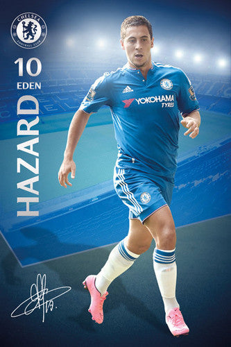 "Eden Hazard ""Signature Series"" Chelsea FC Official EPL Soccer Football Poster - GB Eye 2015/16"