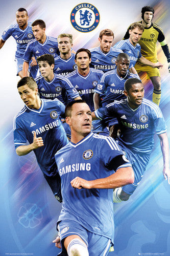 "Chelsea FC ""12 Stars"" 2013/14 Soccer Action Poster - GB Eye (UK)"