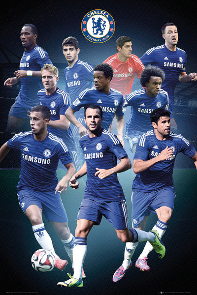 "Chelsea FC ""Big Ten"" (2014/15) EPL Soccer Action Poster - GB Eye (UK)"