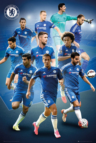 "Chelsea FC ""Superstars"" (10 Players In Action) Official EPL Soccer Football Poster - GB Eye 2015/16"