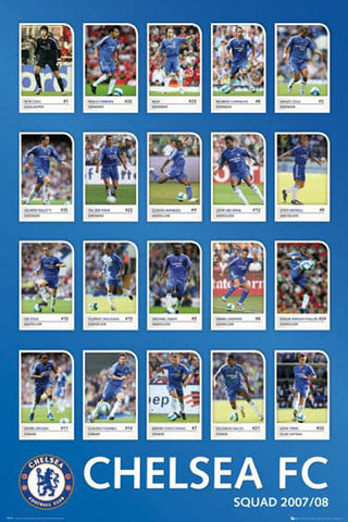 "Chelsea FC ""Super 20"" 2007/08 - GB Posters"