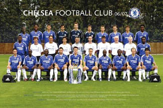 Chelsea FC Official Team Portrait 2006/07 Poster - GB Posters