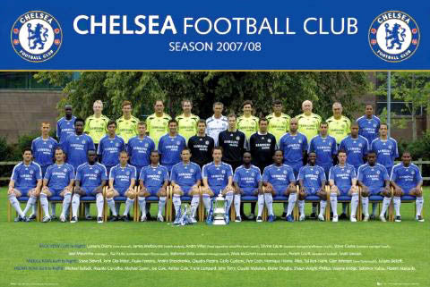 Chelsea FC Official Team Portrait 2007/08 - GB Posters