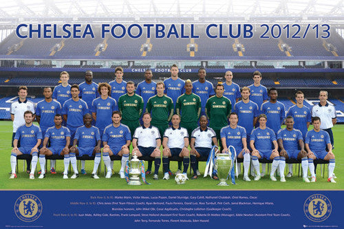 Chelsea FC 2012/13 Official Team Portrait Poster - GB Eye (UK)