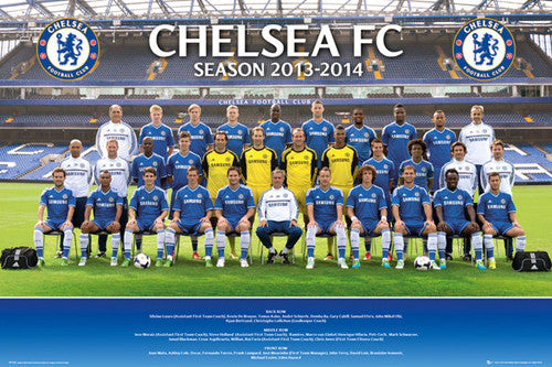 Chelsea FC 2013/14 Official Team Portrait Poster - GB Eye (UK)