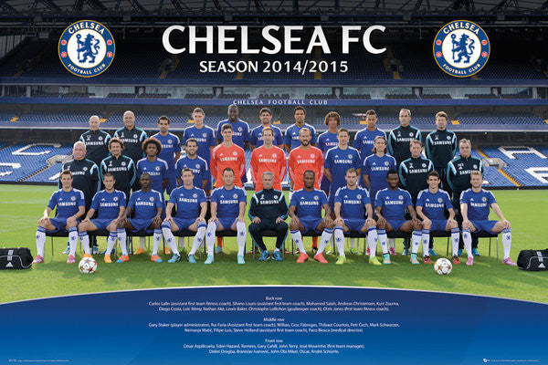 Chelsea FC Official Team Portrait 2014/15 Soccer Poster - GB Eye (UK)