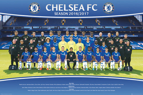Chelsea Blues FC Official Team Portait 2016/17 EPL Poster - GB Eye (UK)