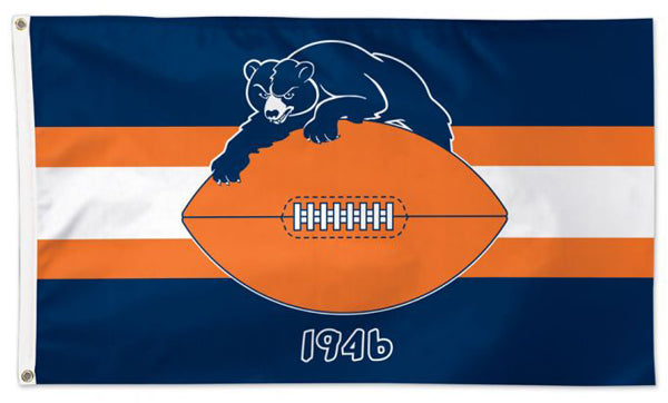 "Chicago Bears ""1946"" Official Vintage Style NFL Football 3'x5' Flag - Wincraft Inc."