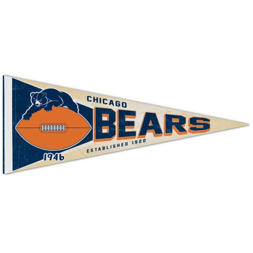 Chicago Bears NFL Retro-1950s-Style Premium Felt Collector's Pennant - Wincraft Inc.