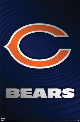 Chicago Bears NFL Football Official Logo Poster - Costacos Sports