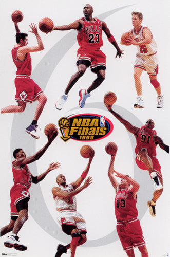 Chicago Bulls 1998 NBA Champions Official Commemorative Poster - Costacos Sports
