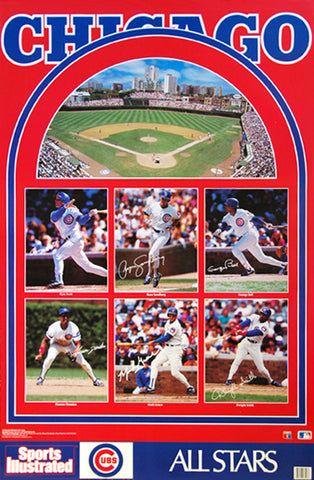 "Chicago Cubs ""All-Stars"" Team Collage Poster - Marketcom/Sports Illustrated 1991"
