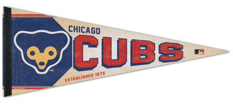 Chicago Cubs MLB Cooperstown Collection 1972-78-Style Premium Felt Pennant - Wincraft