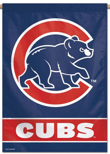 Chicago Cubs Official MLB Alternate-Logo Premium 28x40 Wall Banner - Wincraft Inc.