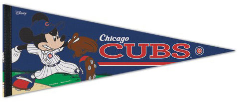 "Chicago Cubs ""Mickey Mouse Flamethrower"" Official MLB/Disney Premium Felt Pennant - Wincraft Inc."
