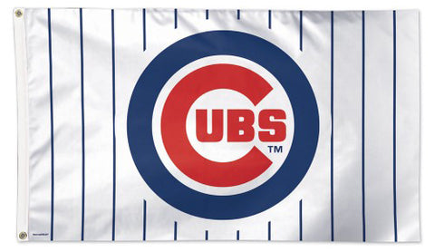 "Chicago Cubs ""Pinstripes Classic"" MLB Baseball Official 3'x5' Deluxe-Edition Team Flag - Wincraft Inc."