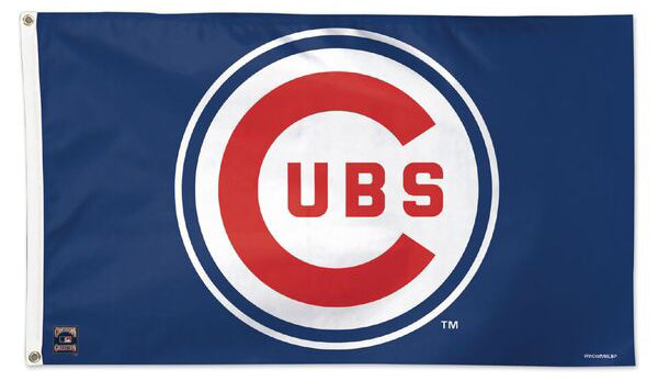 Chicago Cubs Retro 1957-78 Style Cooperstown Collection MLB Baseball Deluxe-Edition 3'x5' Flag