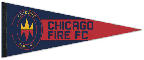 Chicago Fire FC Soccer Official MLS Soccer Team Logo Premium Felt Collector's Pennant - Wincraft