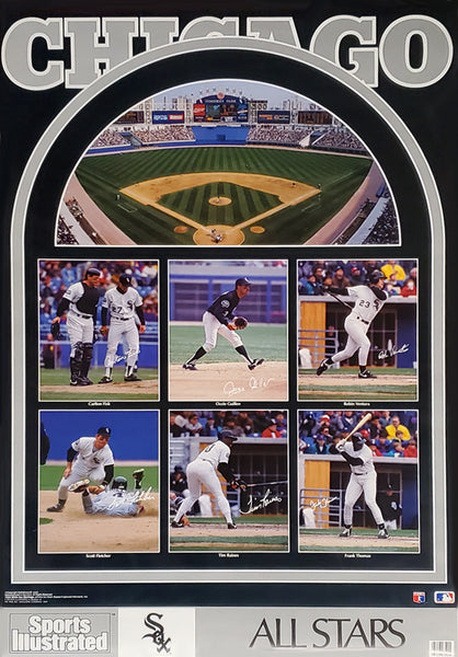 "Chicago White Sox ""All Stars 1991"" Poster (Fisk, Thomas, Raines, Guillen, Ventura) - Marketcom/Sports Illustrated"
