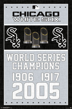 Chicago White Sox 3-Time World Series Champions Commemorative Poster - Trends International