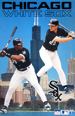 "Frank Thomas and Robin Ventura ""Skyline"" Chicago White Sox Poster - Starline 1995"