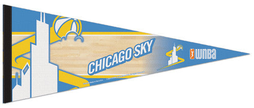 Chicago Sky WNBA Official Team Logo Premium Felt Collector's Pennant - Wincraft 2013