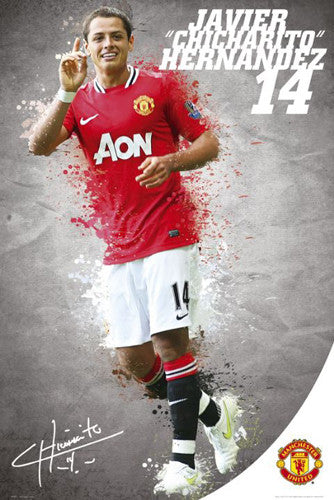 "Javier Chicharito Hernandez ""Signature Series"" Manchester United Poster - GB Eye (UK)"