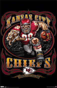 Kansas City Chiefs  Grinding it Out Since 1960  NFL Theme Art Poster - Costacos & Kansas City Chiefs Posters u2013 Sports Poster Warehouse